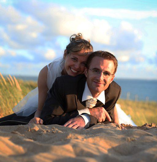 Pose photos dans les dunes