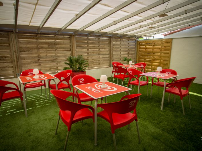 terrasse, camping, sg photographie